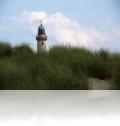 Düne und Warnemünder Leuchtturm