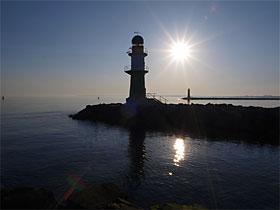 Leuchttürme-Warnemünde Hafeneinfahrt